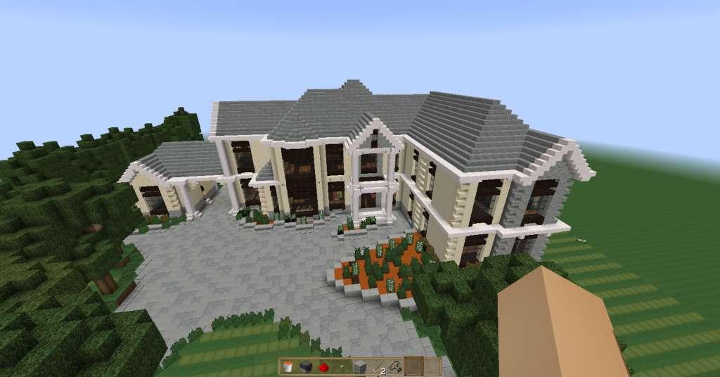 European mansion 2 minecraft for Como hacer una casa moderna y grande en minecraft 1 5 2