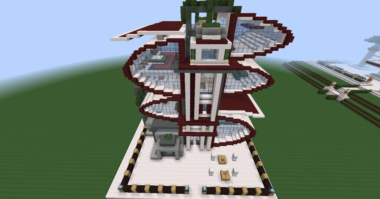 Nueva casa torre futurista minecraft for Casas minecraft planos