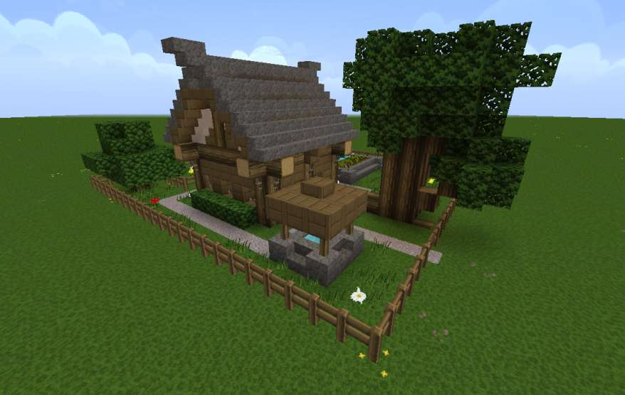 How To Make A Cottage On Minecraft Minecraft Cottage