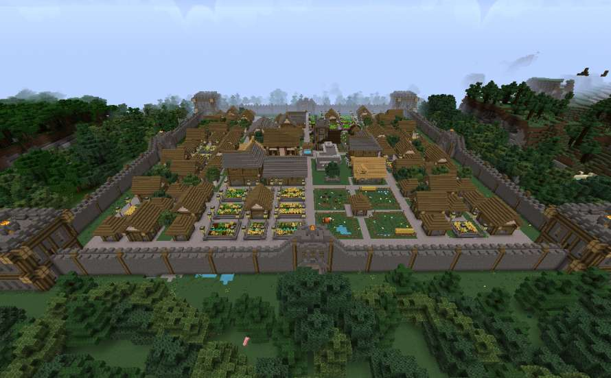 Gran ciudad Medieval Minecraft