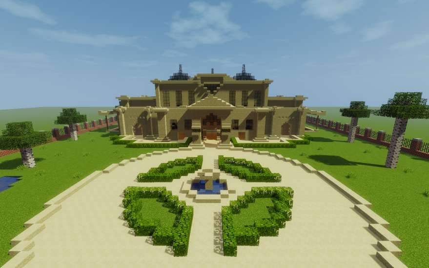Mansion moderna minecraft minecraft descargas for Como aser una casa moderna y grande en minecraft