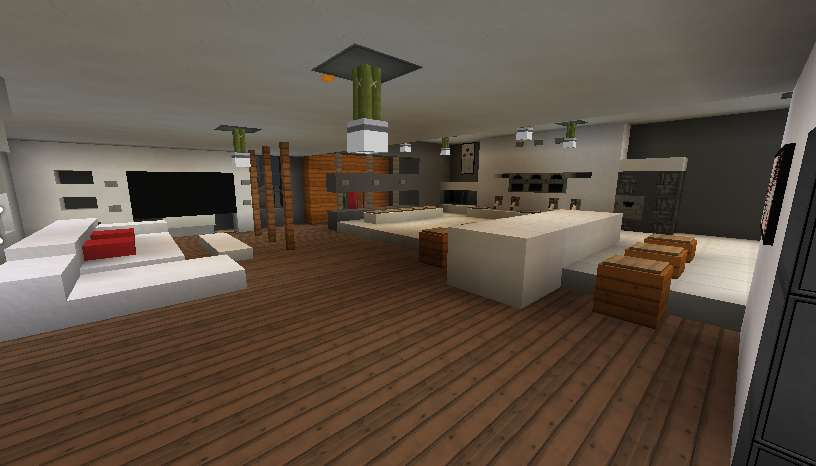 Casa moderna minecraft interior minecraft descargas for Casas minecraft planos