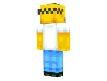 Skin Homer Simpson para Minecraft mega