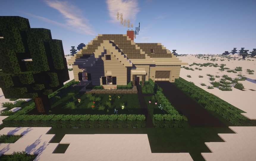 Casa Simple Blanca Minecraft