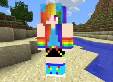 Skin Chica Arcoiris para Minecraft
