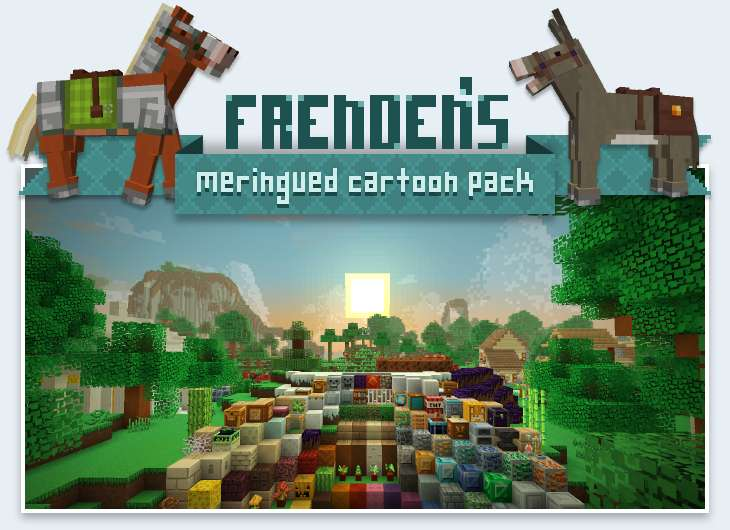 Frenden's Meringued Cartoon Texture Pack para Minecraft 1.8