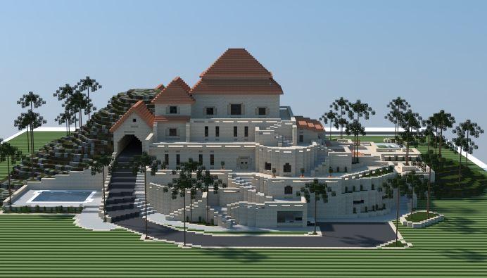 Mansión de Arena Minecraft