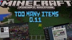 Too Many Items para Minecraft PE 0.11