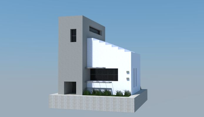 Pin descargar casa moderna minecraft on pinterest for Casa minimalista minecraft