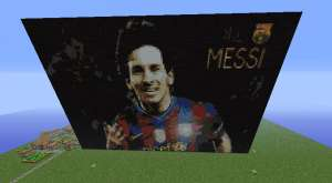 Messi FC Barcelona Minecraft