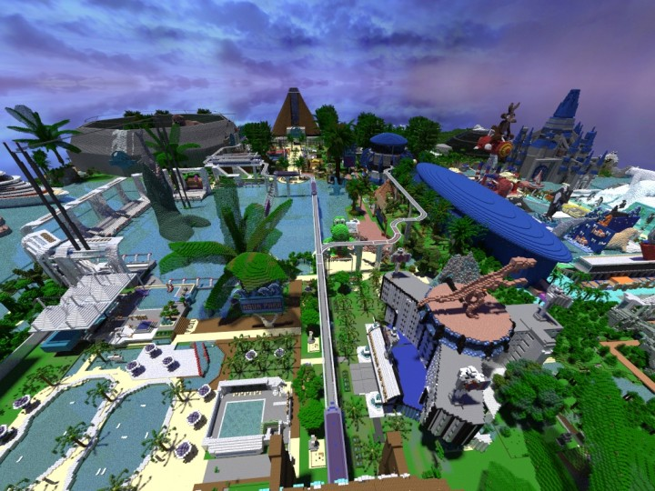 Mapa Jurassic World Minecraft