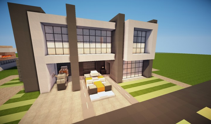 Descargar casa moderna minecraft minecraft descargas for Casas minecraft planos