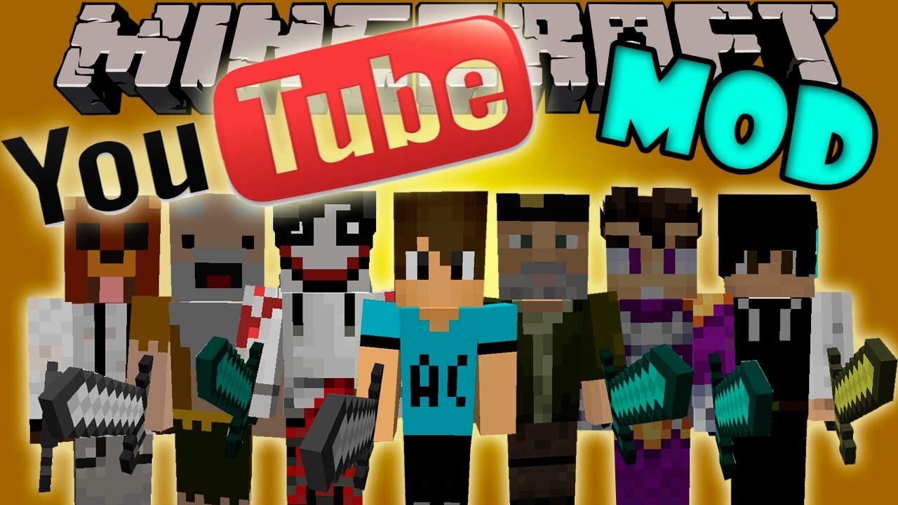 YouTubers + Mod para Minecraft 1.7.2 / 01.07.10 / 1.8