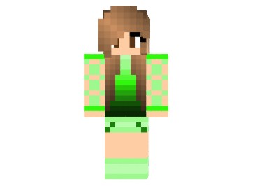 Skin Chica Green Beauty Minecraft