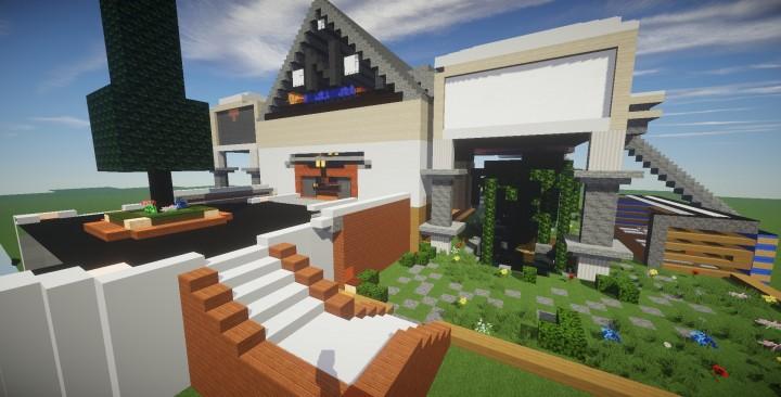 Descargar mansion moderna minecraft for Casa moderna 2015 minecraft