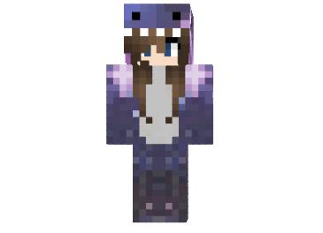 Skin Galaxy Dino Minecraft