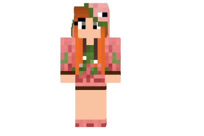 Zombie Pigman Girl Skin Minecraft Minecraft Descargas - Skins para minecraft pe zombie