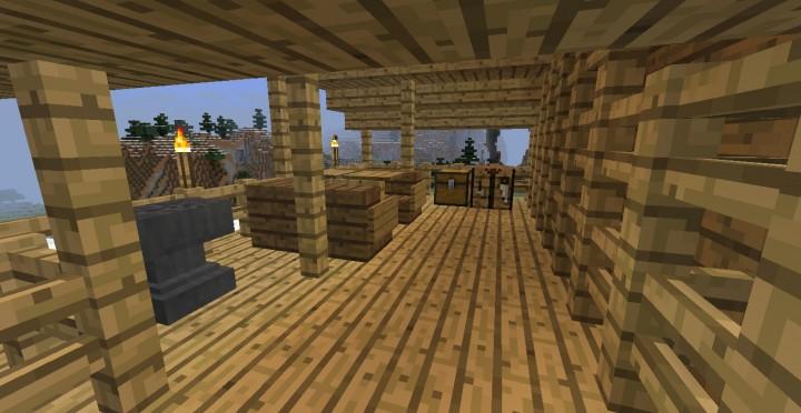 Peque a casa de madera minecraft minecraft descargas - Casa pequena de madera ...
