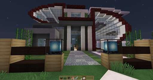Casa Futurista y Moderna Minecraft