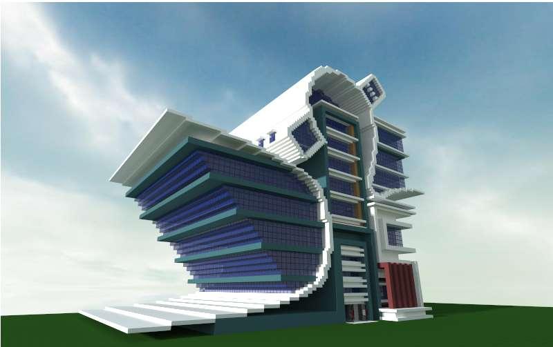 Edificio Futurista y Moderno