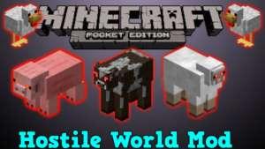 Hostile World Mod Minecraft PE