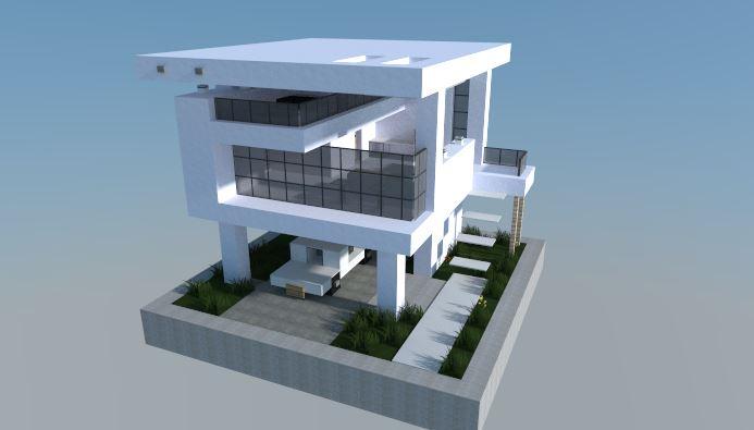 Casa moderna 16x16 para minecraft minecraft descargas for Casa moderna para minecraft