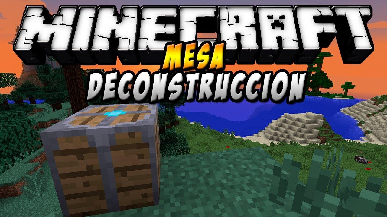 Deconstruction Table Mod para Minecraft 1.7.2 y 1.7.10