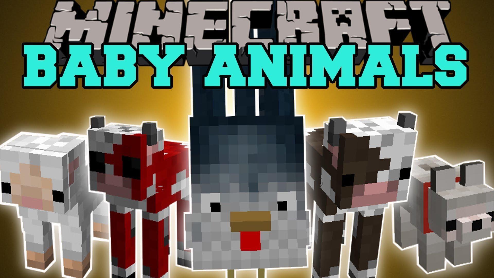 Baby Animals Mod para Minecraft 1.8