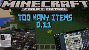 Too Many Items para Minecraft PE 0.11