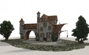 Villa Medieval para Minecraft