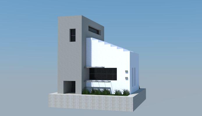 Casa Moderna 11x12 para Minecraft
