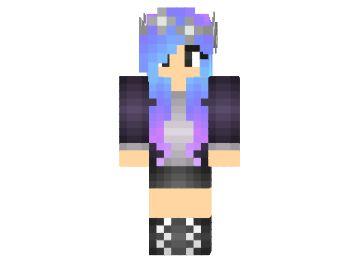 Luna Skin chica minecraft