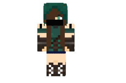 Minecraft Thnx Cya Chica Piel